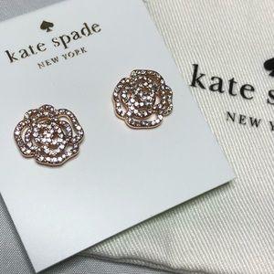 Kate Spade rose gold rose stud earrings
